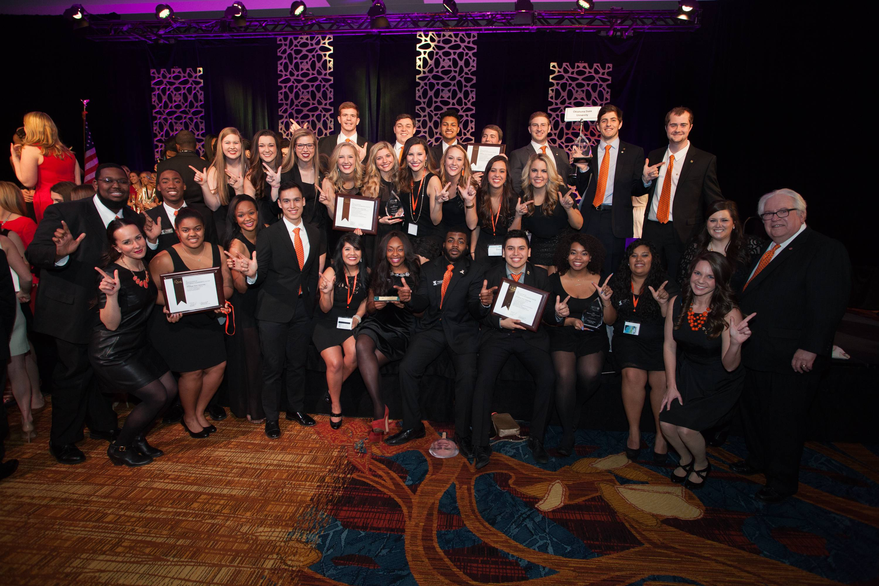 Greek Life Receiving AFLV Award