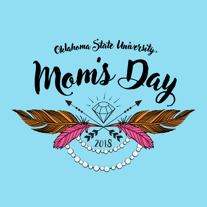 mom's day logo with feathers